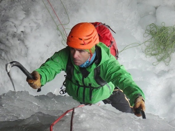 Ice'Tech Petzl pendant l'Ice 2015 avec ice-fall..ice non ?