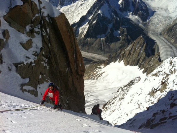 Couloir Whymper, Aiguille verte